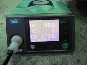 ロードスター カーボンクリーング後の排ガス数値