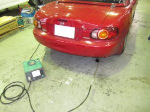 エンジン洗浄前後で排ガスの変化を計測