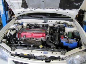ランエボ4 エンジンルーム