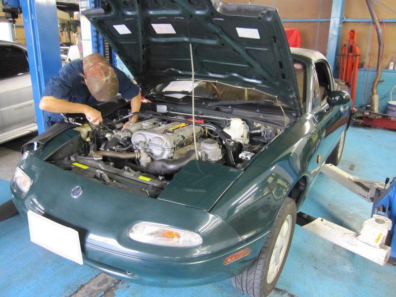 NA6C ロードスター 車検整備